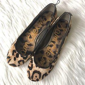 Sam Edelman Cheetah Print Calf Hair Flats Size 8